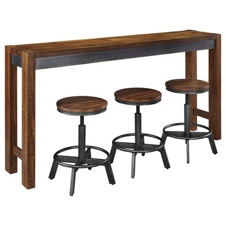 Signature Design By Ashley Torjin4 Piece Long Counter Table Set ...