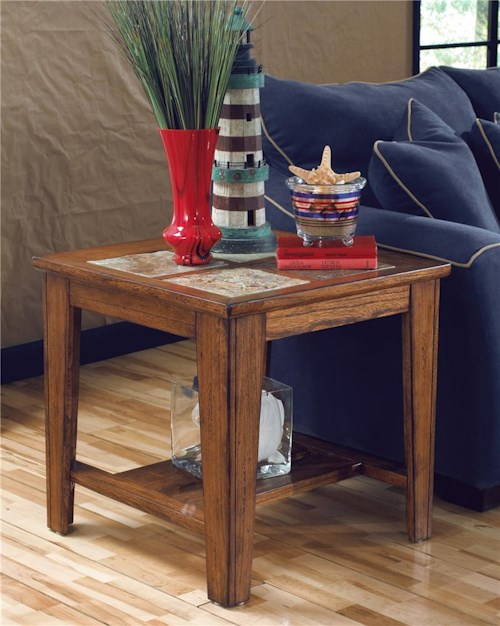Signature Design by Ashley Toscana Square End Table