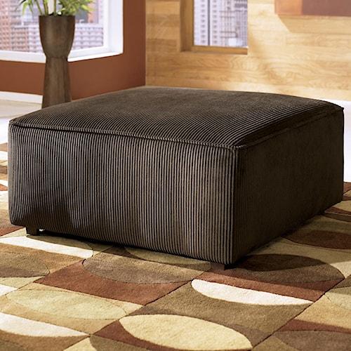 Ashley Furniture Vista - Chocolate Oversized Accent Ottoman - Ashley Furniture Vista - Chocolate Oversized Accent Ottoman
