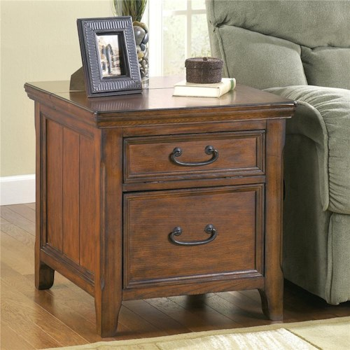 Signature Design by Ashley Furniture Woodboro Rectangular End Table with Work Center