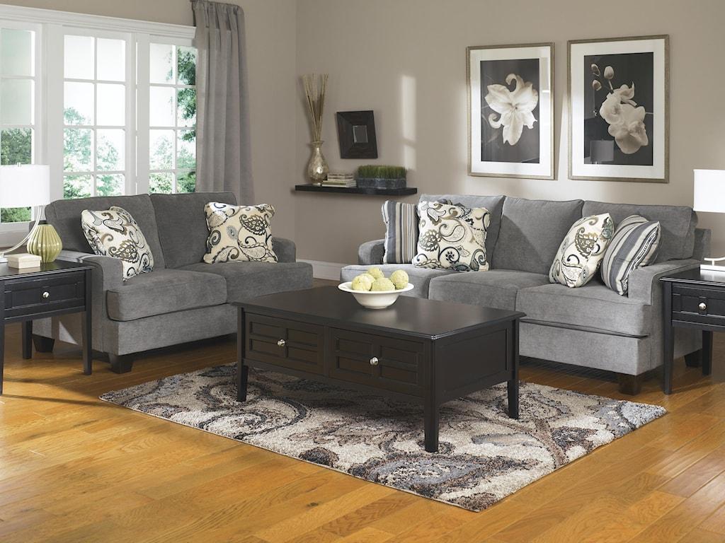 Ashley furniture yvette steelstationary living room group