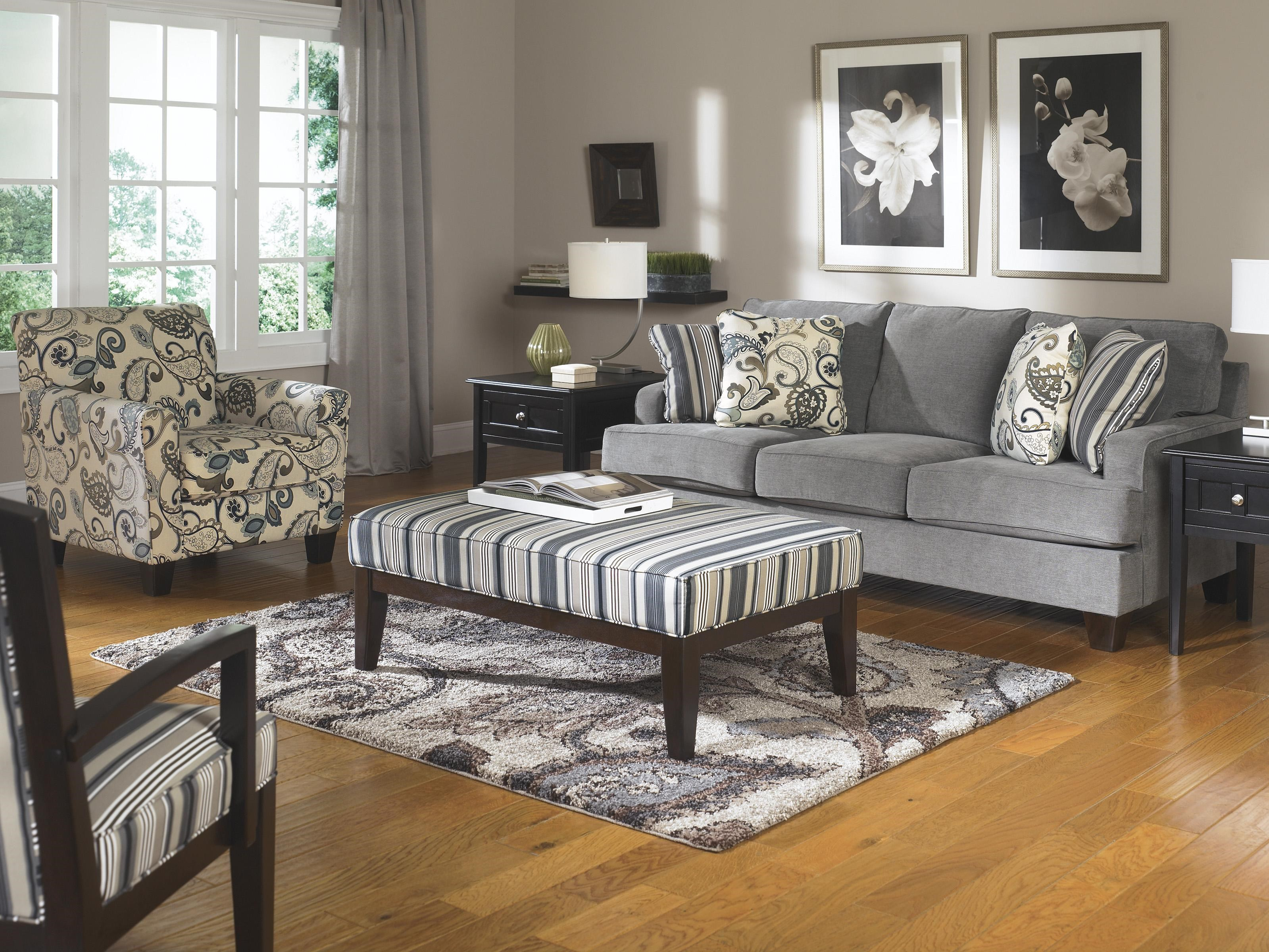 Ashley Furniture Yvette - Steel Stationary Living Room Group - Dream Home Furniture - Upholstery ...