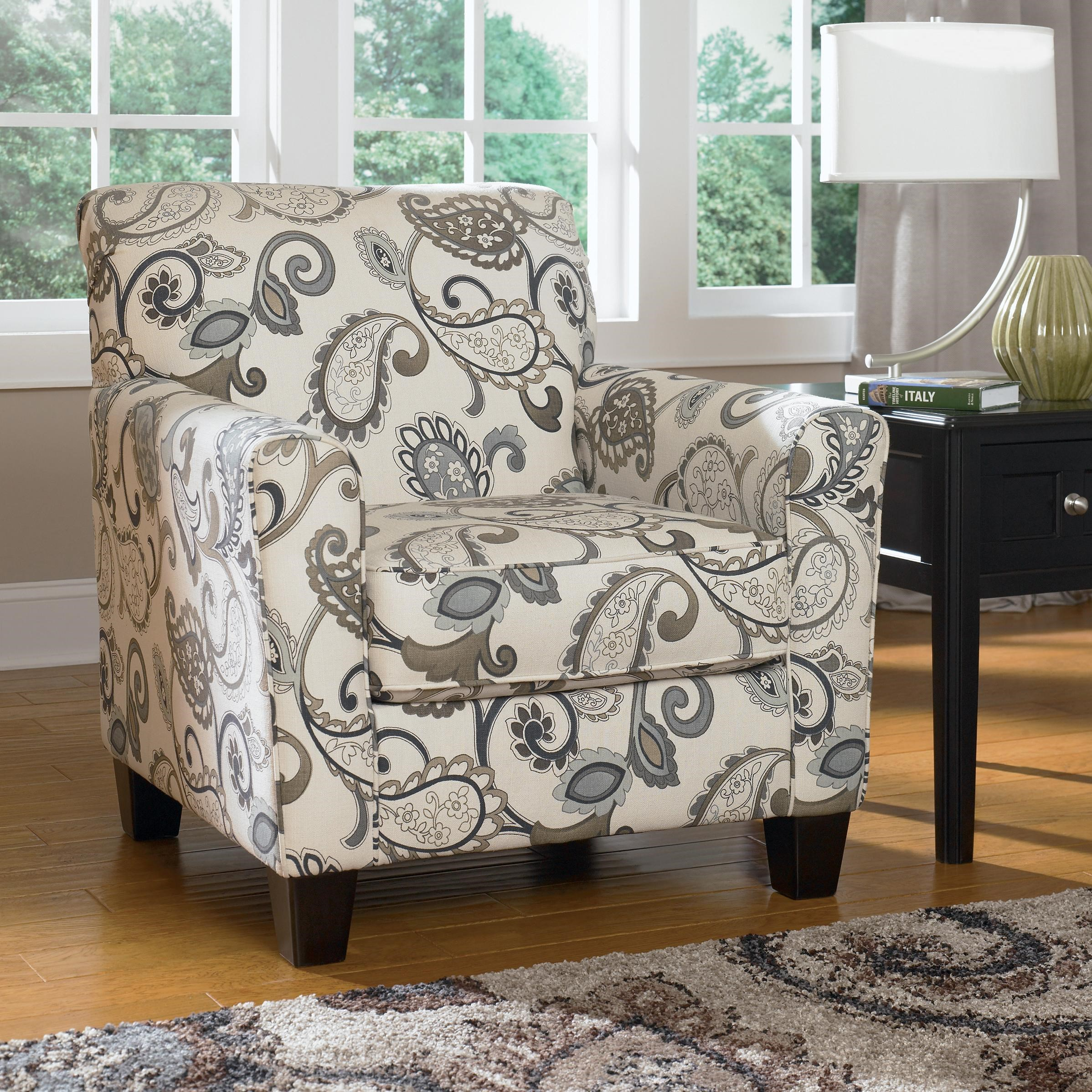 Ashley Furniture Yvette   Steel Accent Chair W/ Loose Seat Cushion