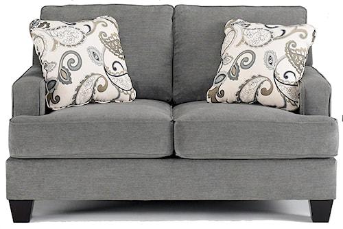 Ashley Furniture Yvette - Steel Love Seat  w/ Loose Seat Cushions