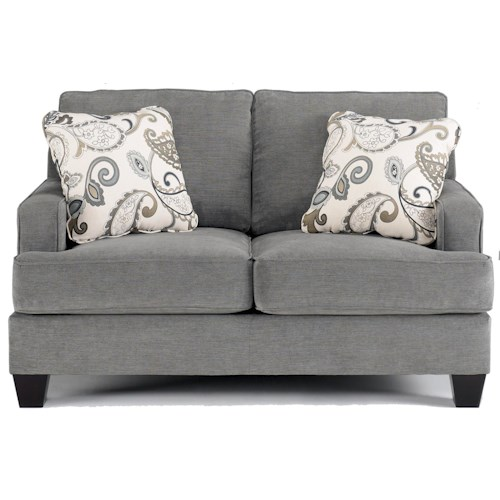 Ashley Furniture Yvette - Steel Love Seat  w/ Loose Seat Cushions
