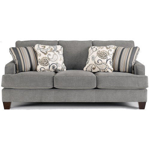 Ashley Furniture Yvette - Steel Stationary Sofa w/ Loose Seat Cushions