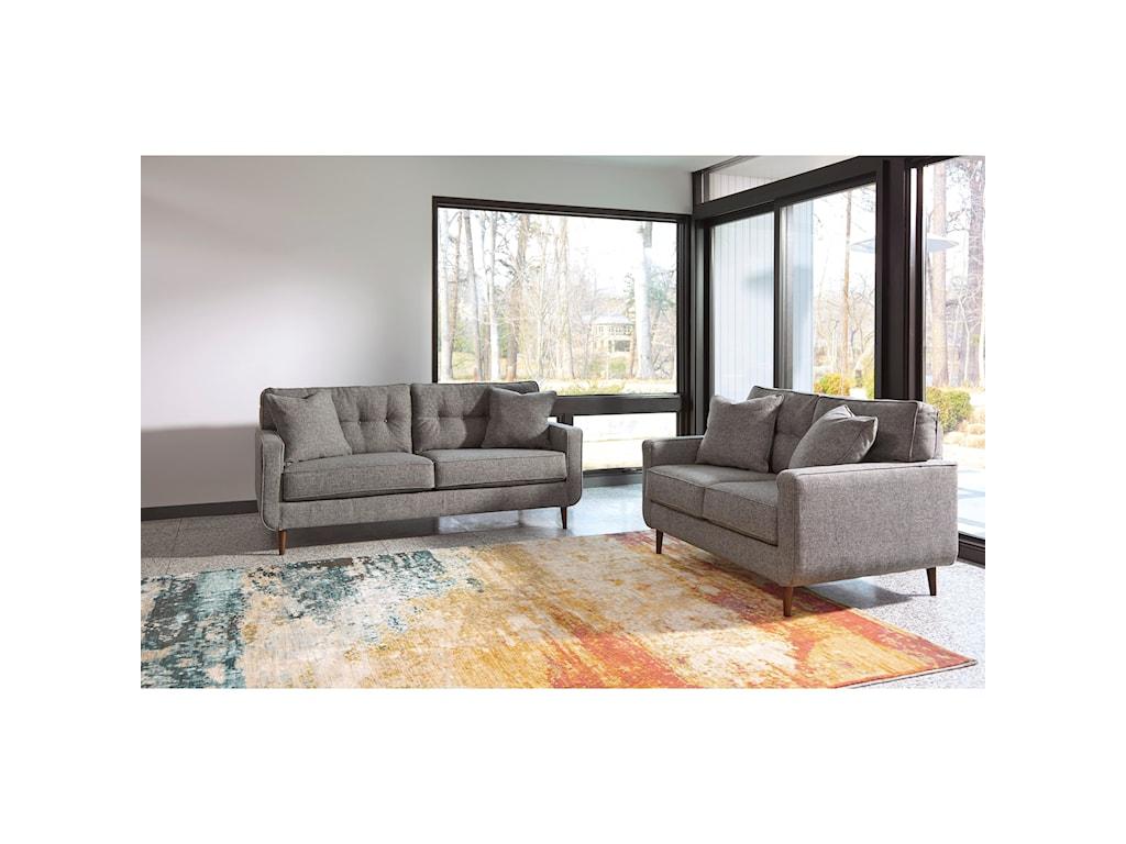Ashley Furniture Zardoni Stationary Living Room Group - Furniture ...