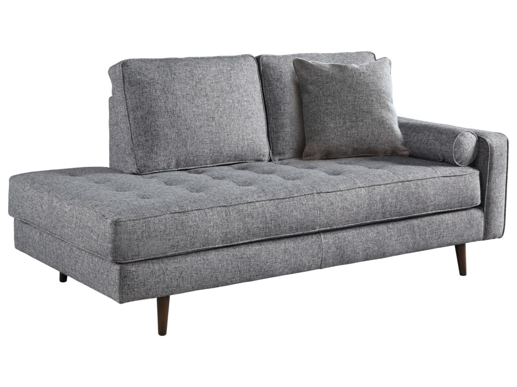 Sofa with chaise lounge ashley for 2 arm pressback chaise