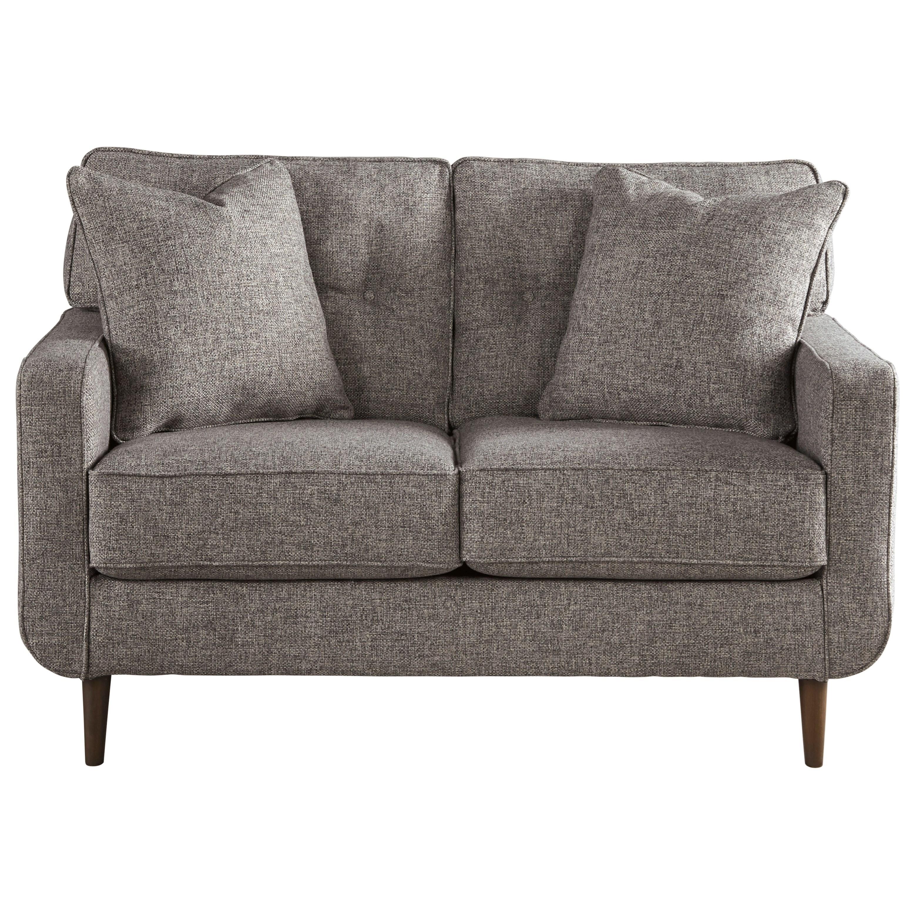 Ashley Furniture Zardoni Mid Century Modern Loveseat   Furniture And  ApplianceMart   Love Seats