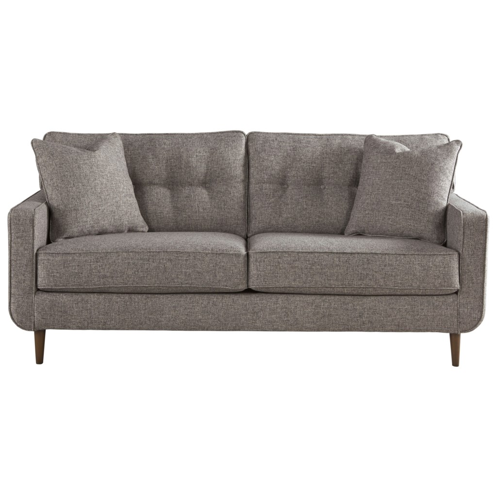 Ashley Furniture Sofa ashley furniture zardoni mid-century modern sofa - furniture and