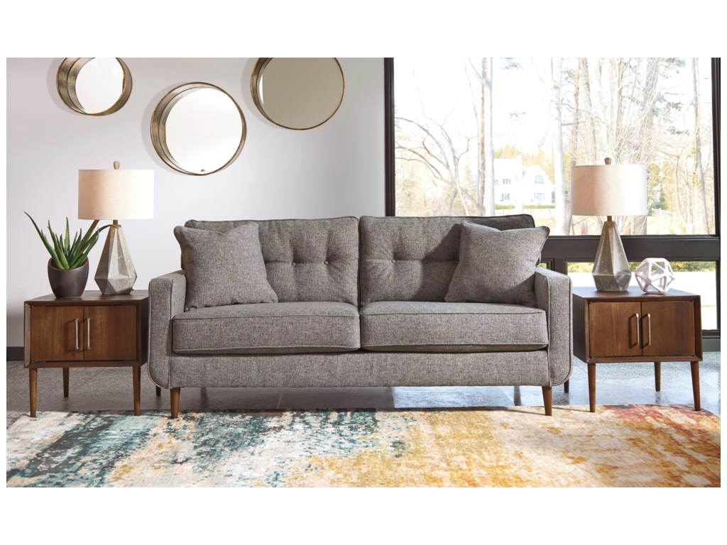 furniture chaise bed laf sectional local nokomis ashley in sofa charcoal