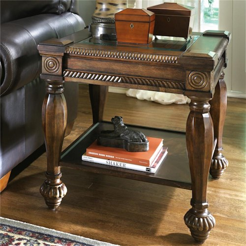 Signature Design by Ashley Mantera End Table with Reeded Details