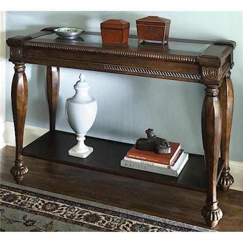 Signature Design by Ashley Mantera Sofa Table with Bottom Shelf