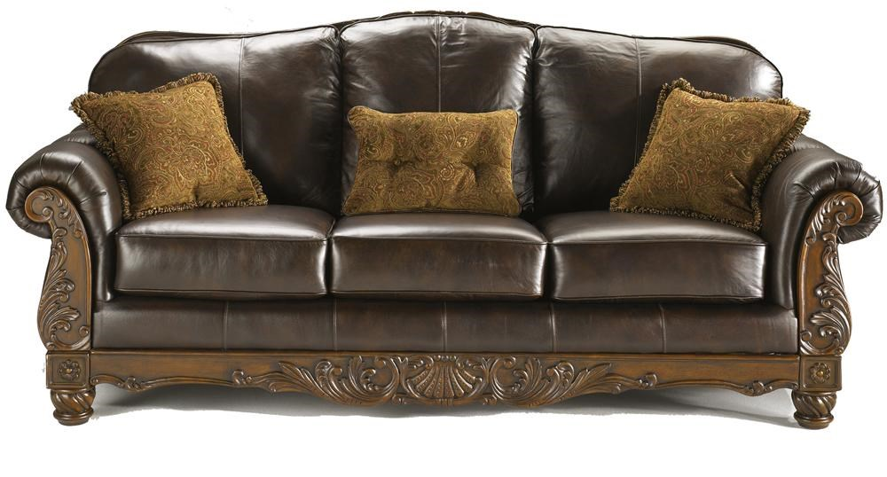 Millennium North Shore   Dark Brown Traditional Leather Sofa   Royal  Furniture   Sofas