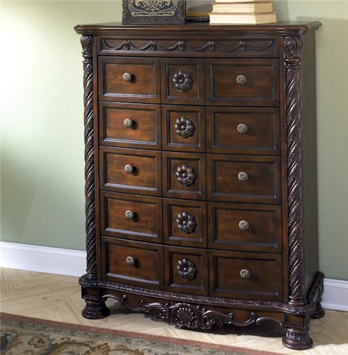 Millennium North Shore Chest of Drawers with Half Turned Posts