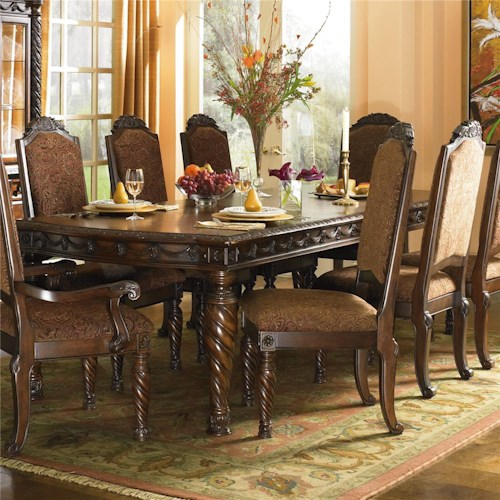 Millennium North Shore  Rectangular Extension Table with 2 Dining Arm Chairs and 4 Dining Side Chairs Set