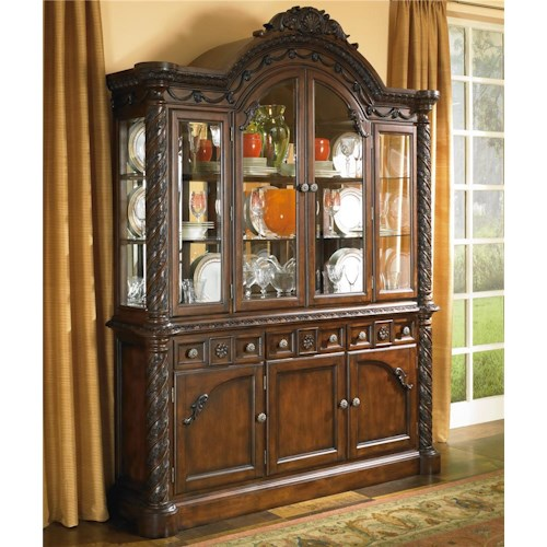 Millennium North Shore China Cabinet with Glass Doors