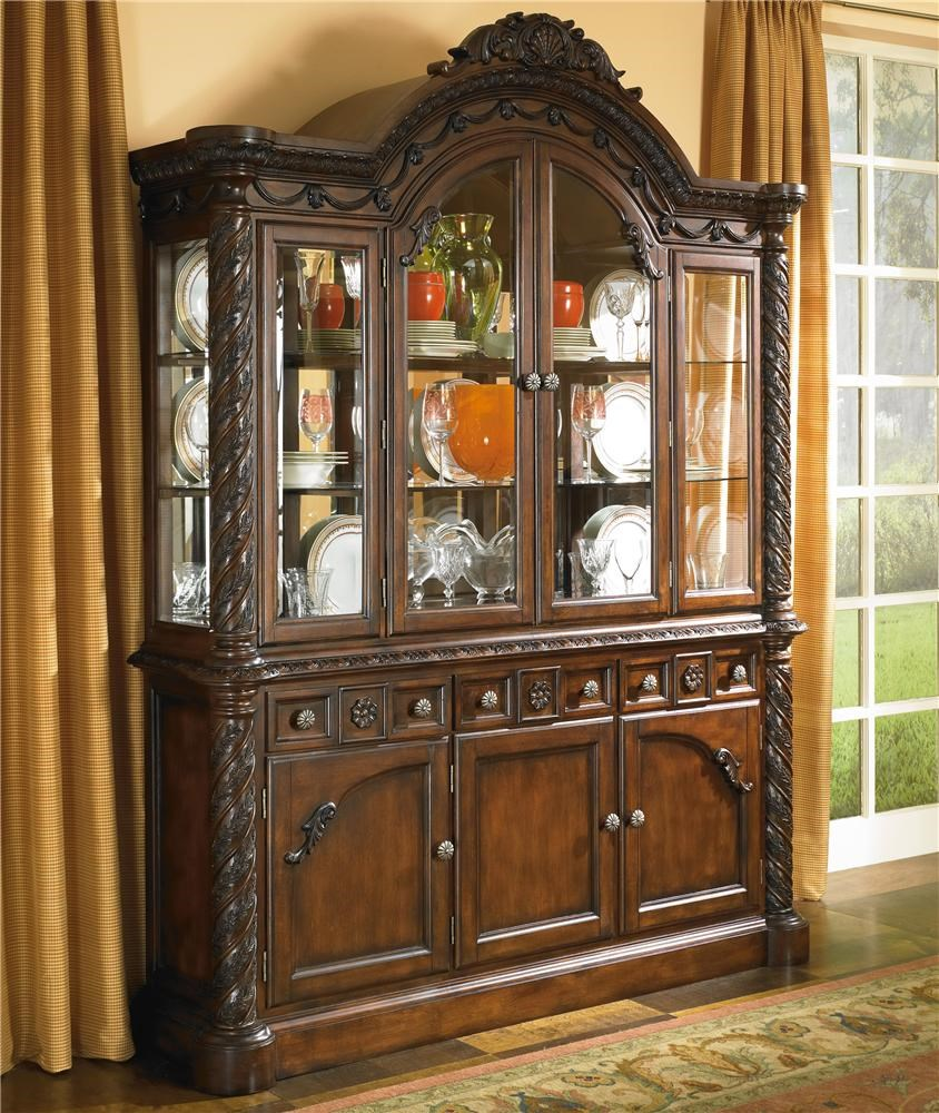 North Shore China Cabinet With Glass Doors By Millennium