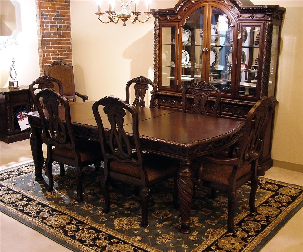 north shore dining room pedestal table top. north shore 9 pc