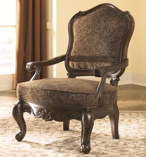 Millennium North Shore - Dark Brown Upholstered Accent Chair