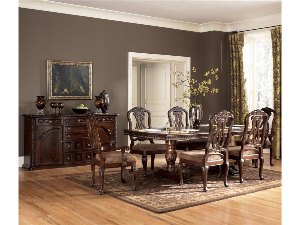 Shown with Double Pedestal Table.