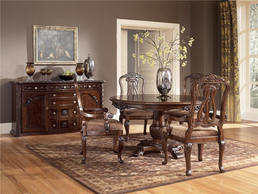 Shown with Round Single Pedestal Table