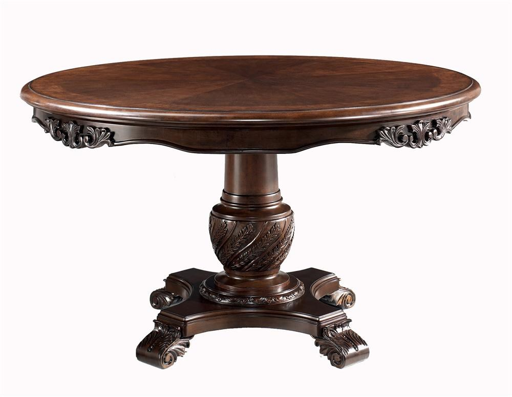 Millennium North Shore Round Pedestal Dining Table   Royal Furniture   Dining  Tables