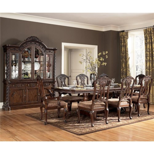 Millennium North Shore 9 Piece Double Pedestal Table & Chair Set