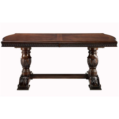 Millennium North Shore Double Pedestal Extension Dining Table J J Furniture Dining Tables