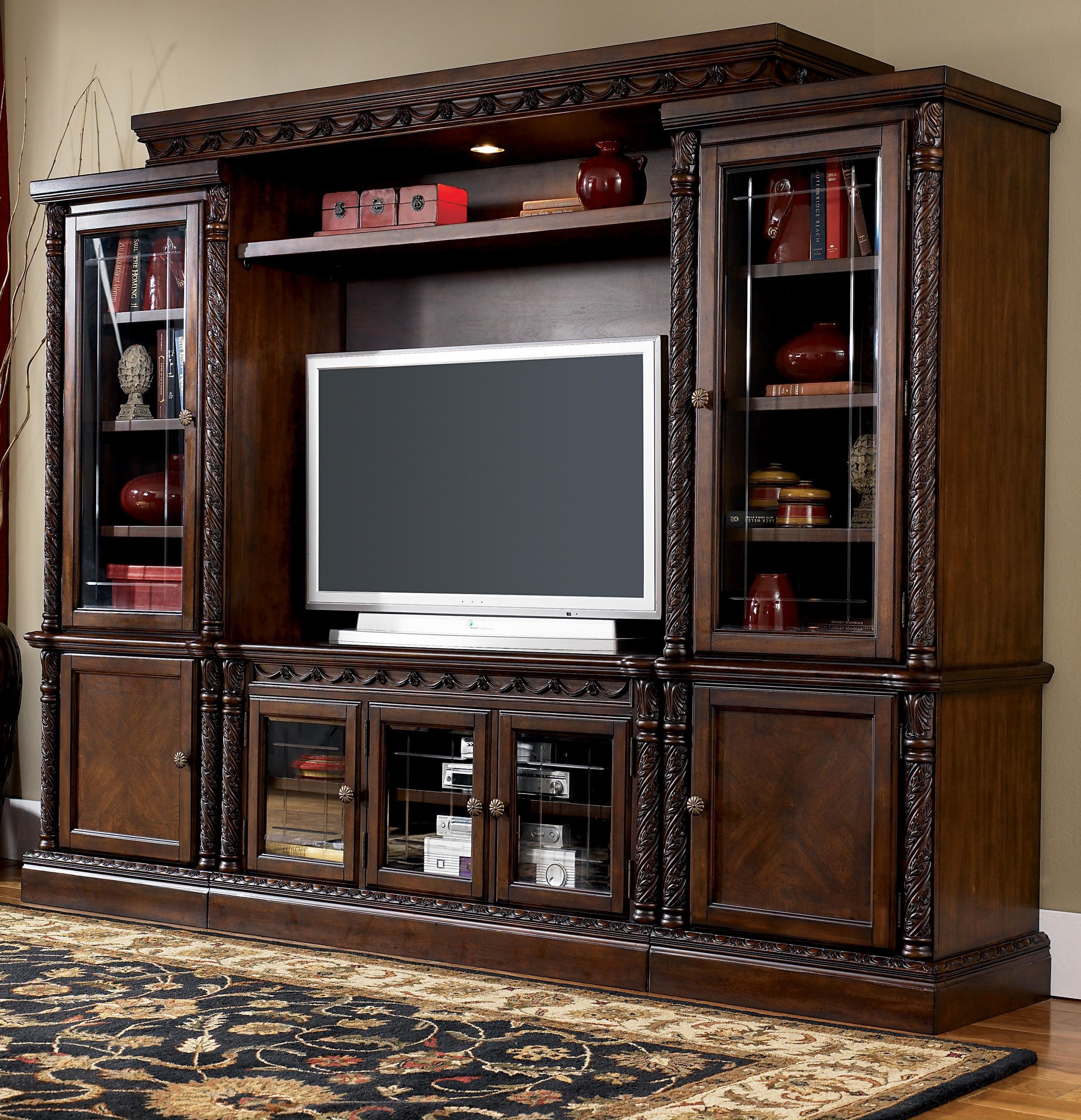 Millennium North Shore Traditional Entertainment Wall Unit - Royal ...