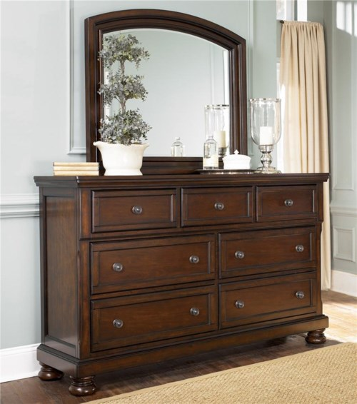 Ashley Furniture Porter 7 Drawer Dresser & Mirror Combo