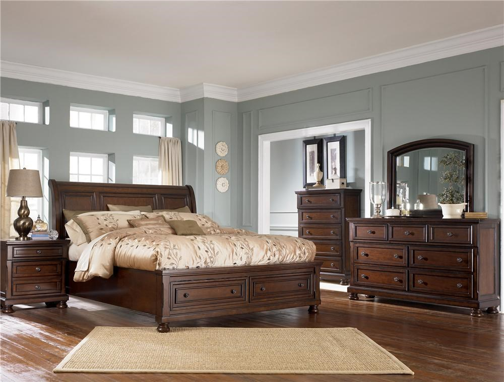 Shown with Nightstand, Chest & Sleigh Bed