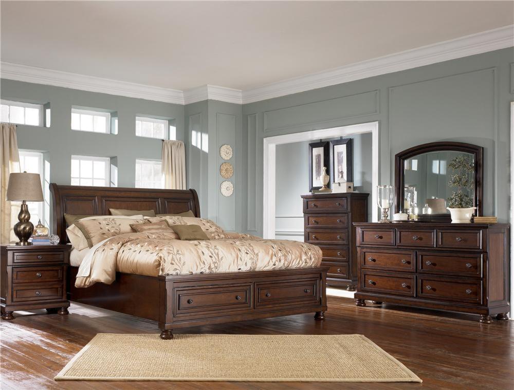 Shown with Nightstand, Dresser, Mirror & Sleigh Bed