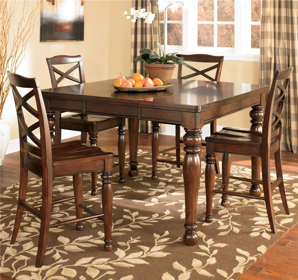 ashley furniture porter house 5 piece counter height table u0026 stool