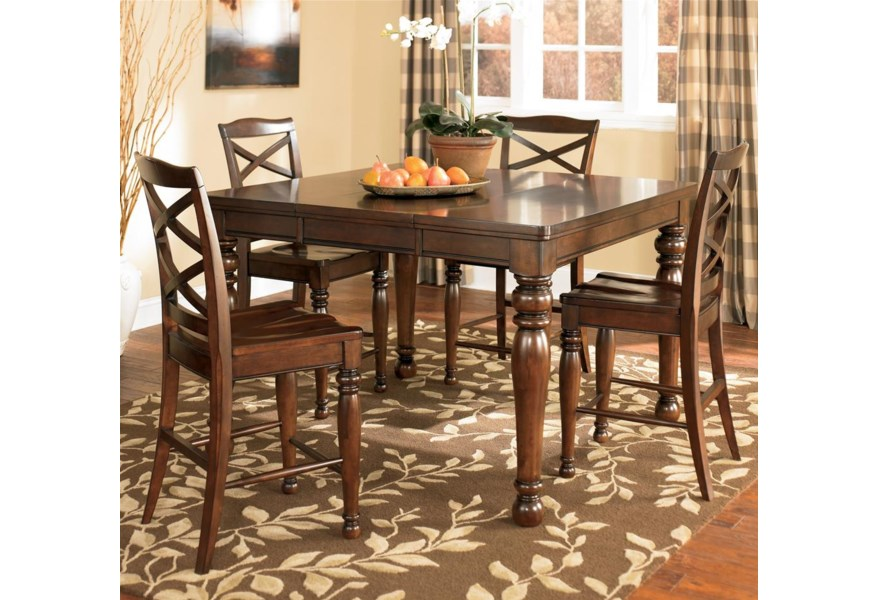 Ashley Furniture Porter House D697 32 4x124 5 Piece Counter Height Table Stool Set Furniture And Appliancemart Pub Table And Stool Sets
