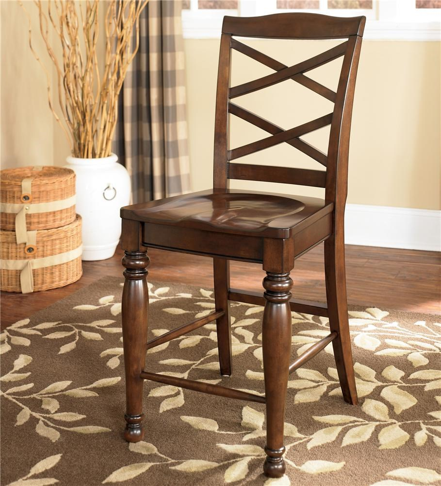 Ashley Furniture Porter 24 Inch Bar Stool With Double X Back