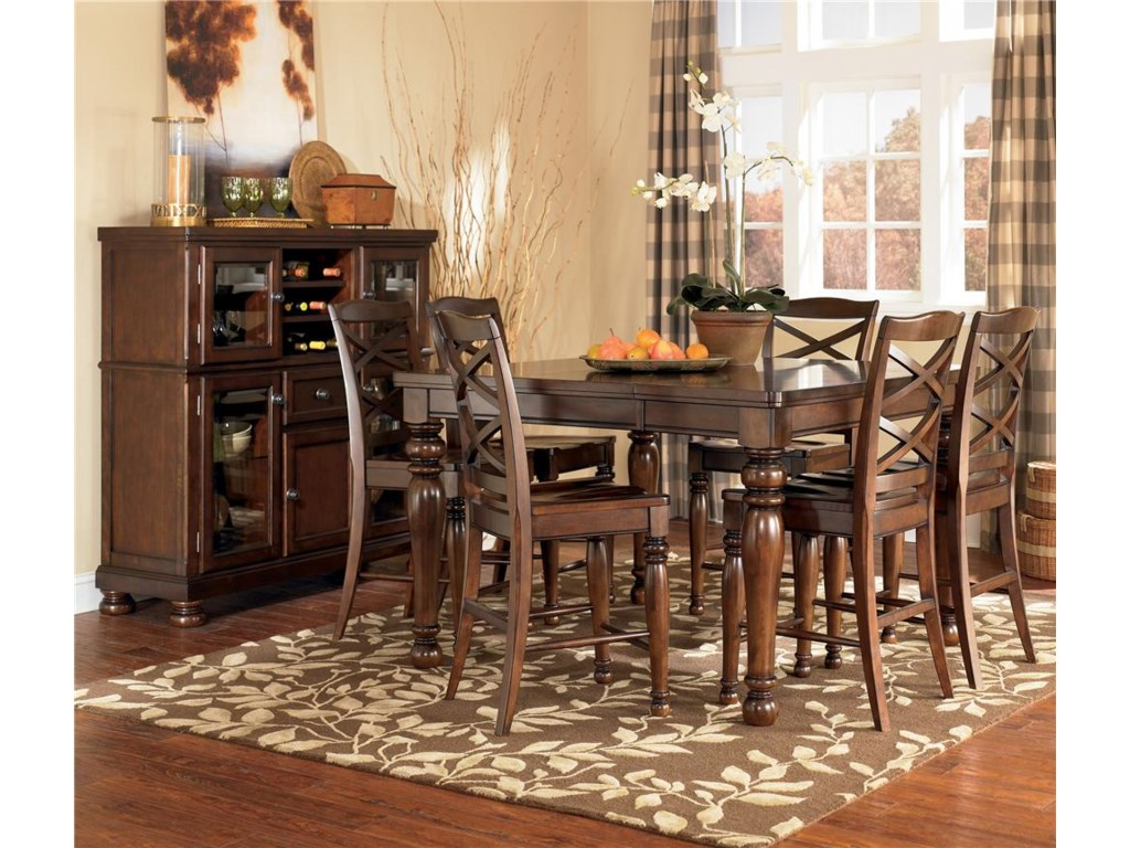 Ashley Furniture Porter7 Piece Counter Height Table Stool Set