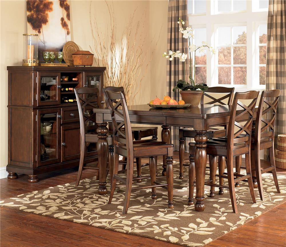 Ashley Furniture Counter Height Table Set & Porter Counter