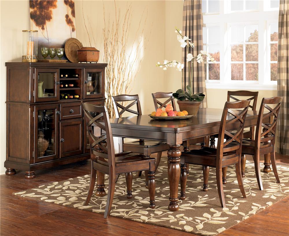 Ashley Furniture Porter 7 Piece Rectangular Extension Table U0026 Chair Set