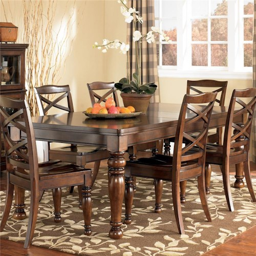 Ashley Furniture Porter Rectangular Extension Dining Table ...