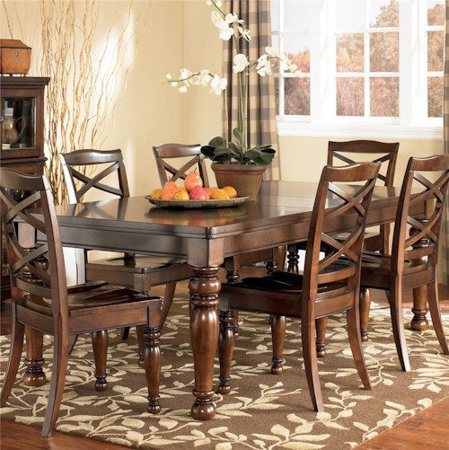 Ashley Furniture Porter Rectangular Extension Dining Table | Wayside ...