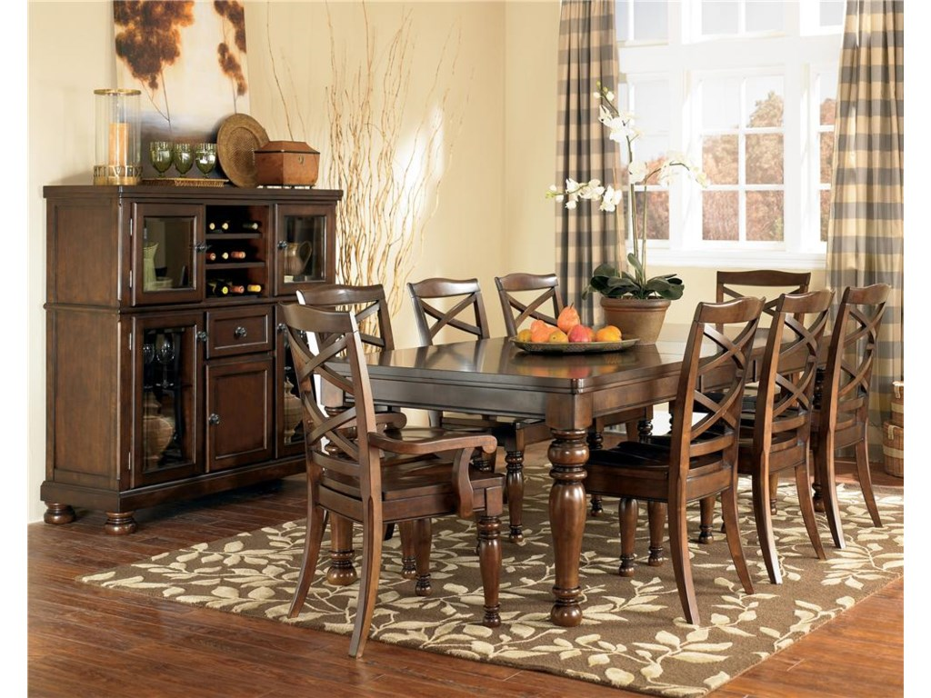 ashley furniture kitchen tables Shown with Arm Side Chairs Server