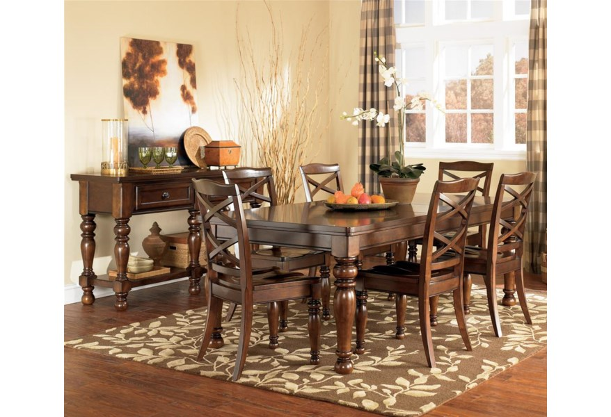 Ashley Furniture Porter D697 35 Rectangular Extension Dining Table Northeast Factory Direct Dining Tables