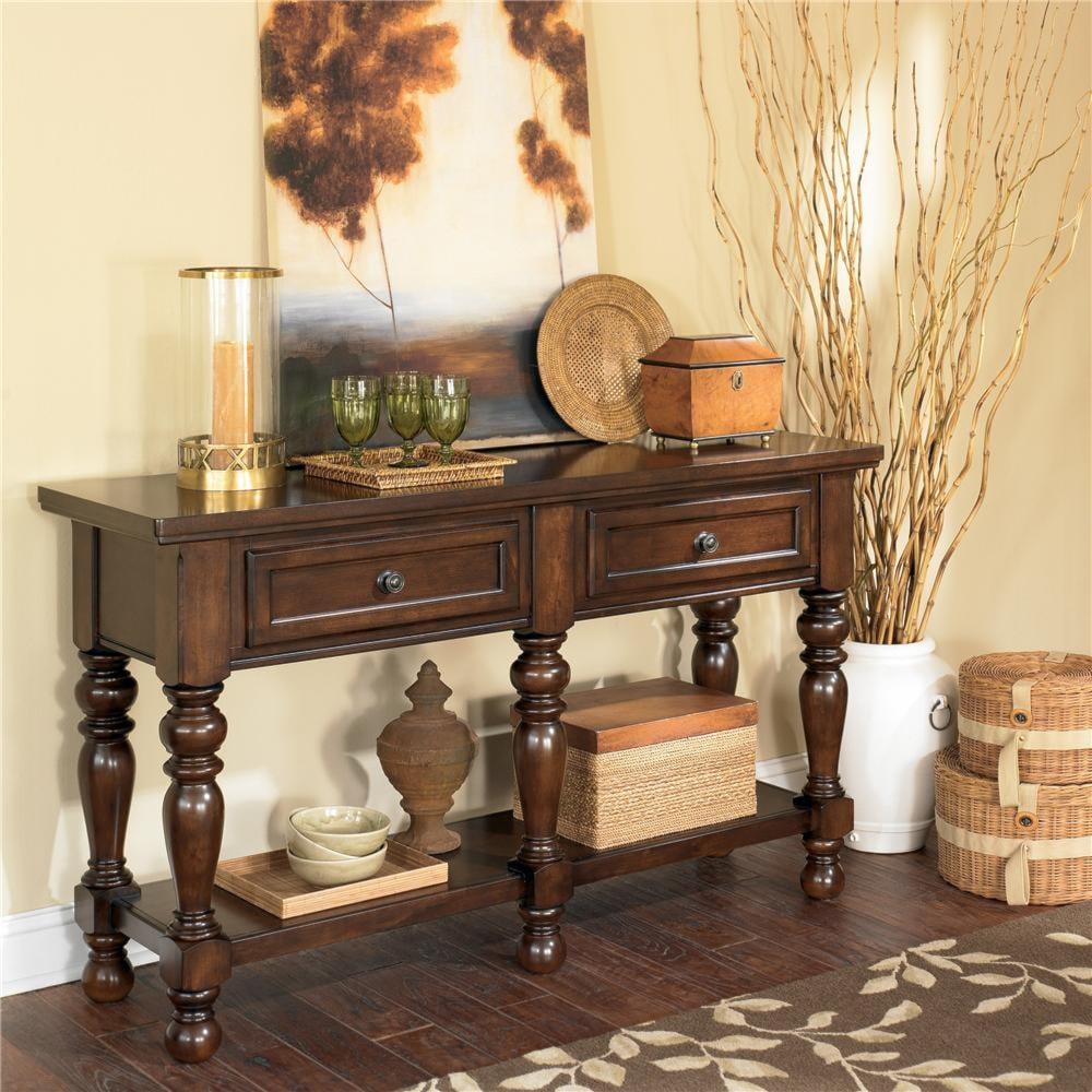 ashley furniture porter 5 leg server - wayside furniture - servers