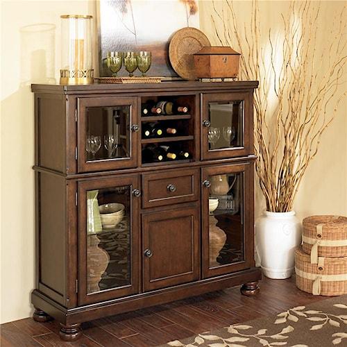 Ashley Furniture Porter D697 76 Server With Storage Cabinet Northeast Factory Direct Servers