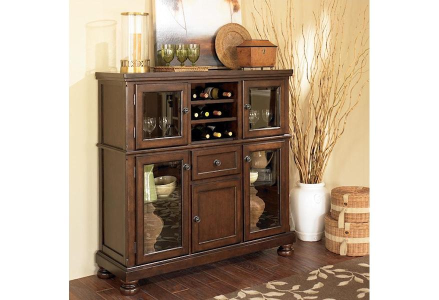 Porter Server With Storage Cabinet