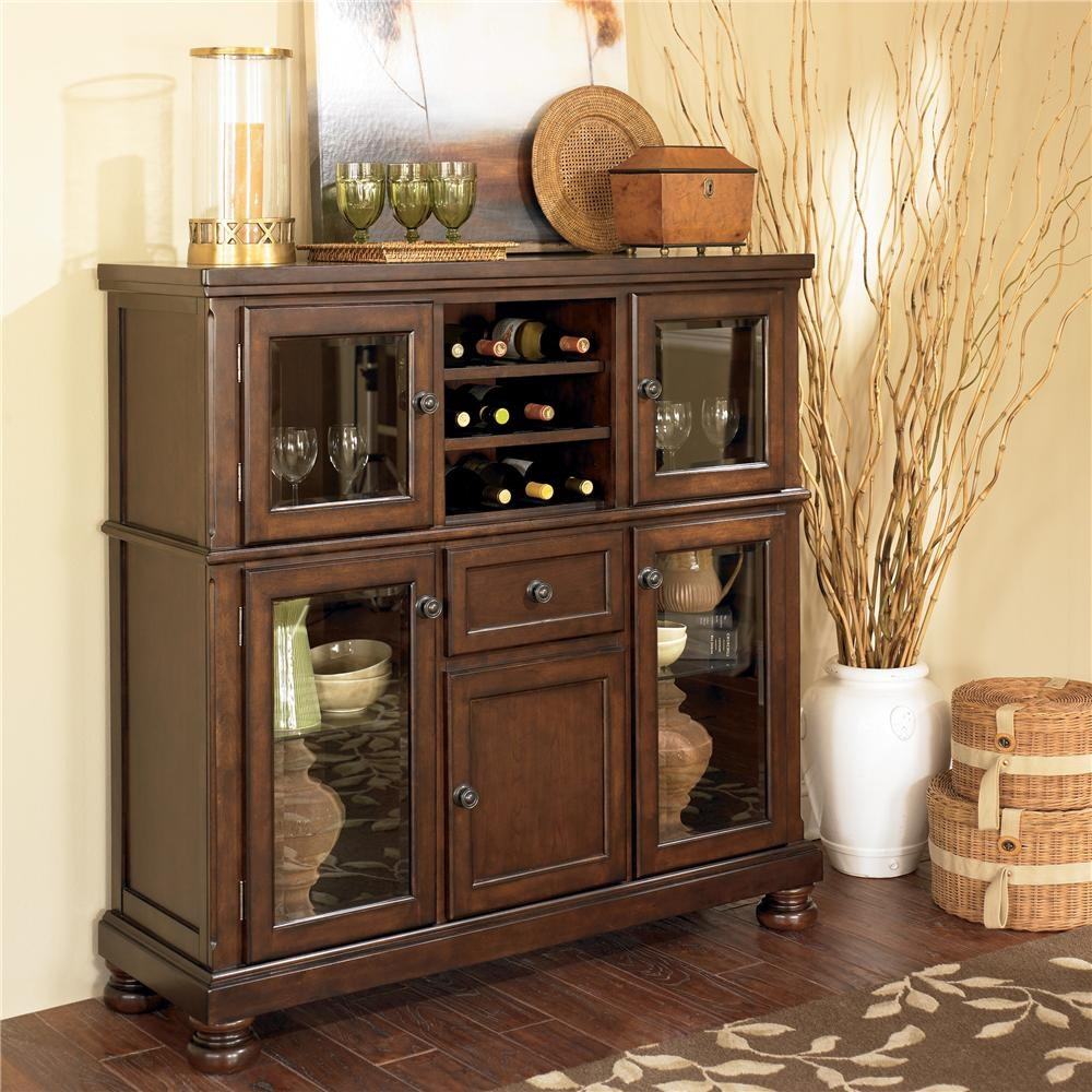 Ashley Furniture PorterServer With Storage Cabinet ...