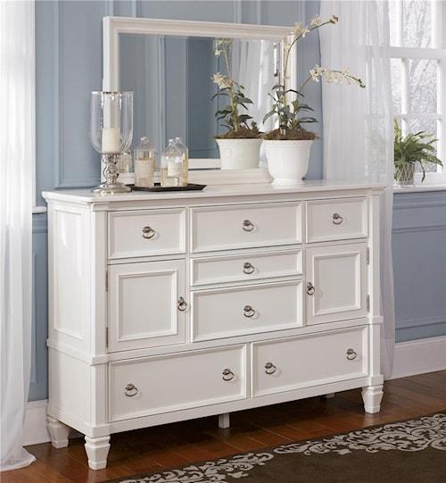 Millennium Prentice Dresser And Mirror Combination