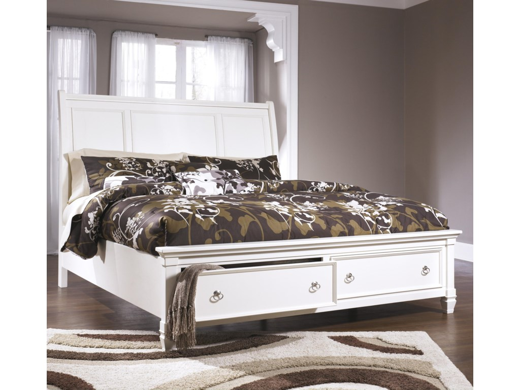 Millennium PrenticeQueen Sleigh Bed with Storage Footboard