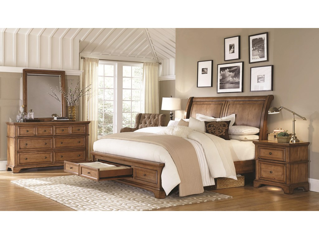 Highland Court Walnut CreekWalnut Creek King Sleigh Storage Bed